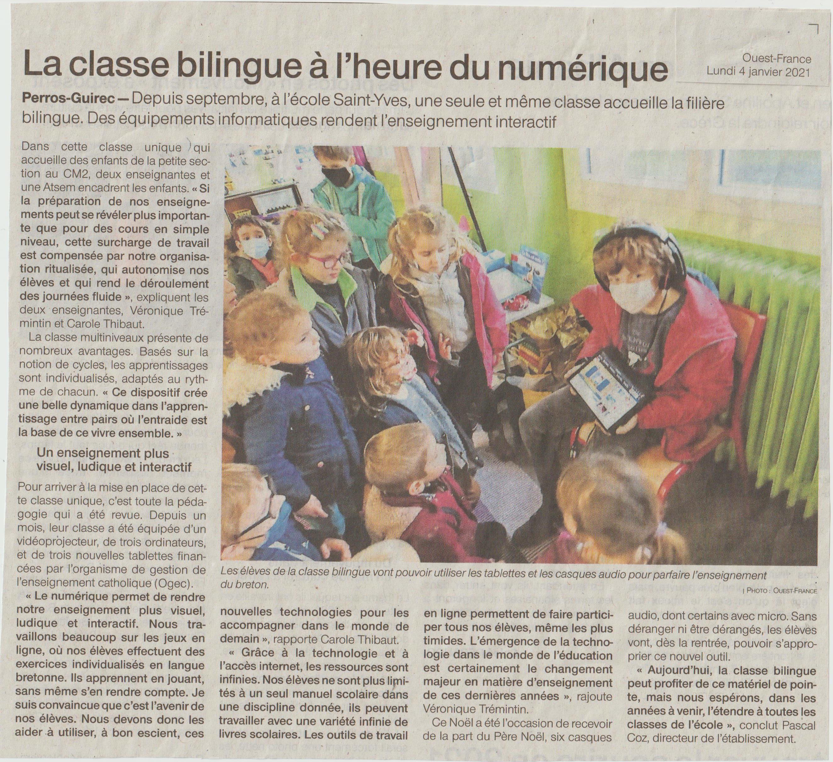 article presse tablette