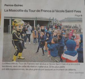mascotte tour de France école, journal