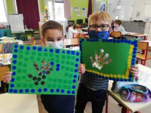 jour 100 d'école, Gabriel et Elan